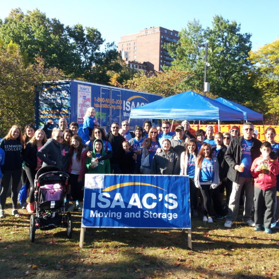 Isaac's Gives Back Making Strides for breast cancer walk 1