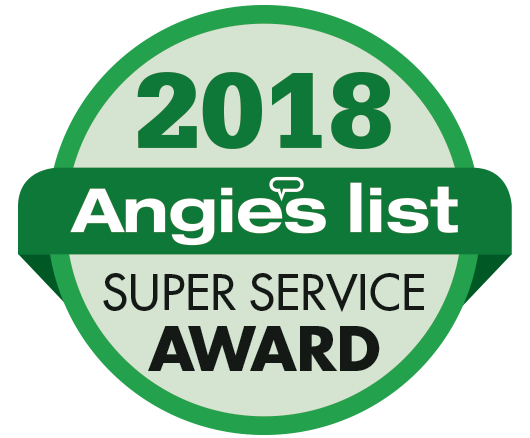 Logo for angies list super service award